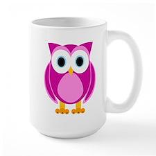 Cute Pink Cartoon Owl Mug