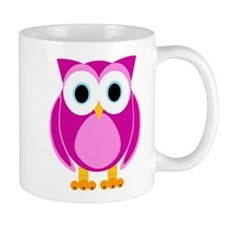 Cute Pink Cartoon Owl Mug