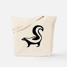 Black Skunk Tote Bag