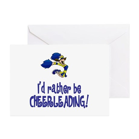 "CheerChick ""Rather be Cheerleading"" Greeting Cards"