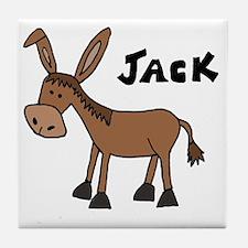 Funny Donkey Named Jack Tile Coaster