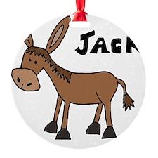 Funny Donkey Named Jack Ornament