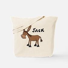 Funny Donkey Named Jack Tote Bag