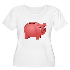 Piggy Bank Plus Size T-Shirt