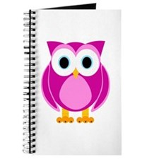 Cute Pink Cartoon Owl Journal