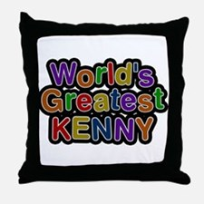 Worlds Greatest Kenny Throw Pillow