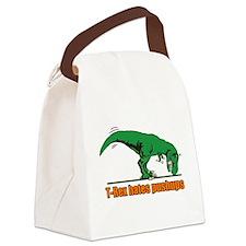 T Rex hates pushups Canvas Lunch Bag