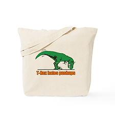 T Rex hates pushups Tote Bag