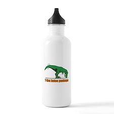 T Rex hates pushups Water Bottle