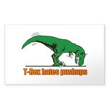 T Rex hates pushups Decal