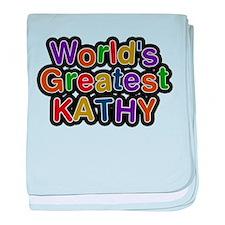 Worlds Greatest Kathy baby blanket