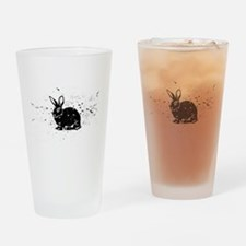 Cute Easter rabbit Drinking Glass