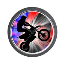 Motocross Going Loopy Wall Clock