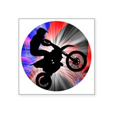 "Motocross Going Loopy Square Sticker 3"" x 3"""
