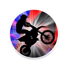 """Motocross Going Loopy 3.5"""" Button"""