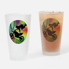 Motocross in a Psychedelic Spider W Drinking Glass