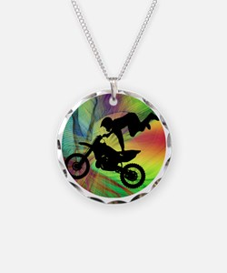 Motocross in a Psychedelic S Necklace