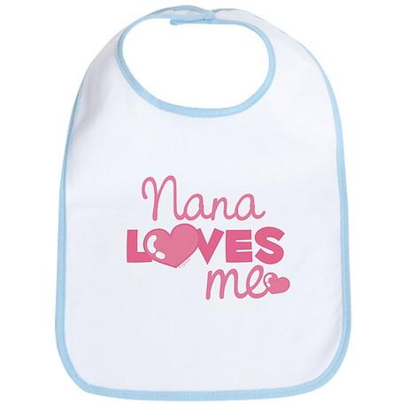 Nana Love Me (pink) Bib