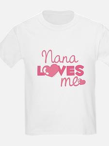 Nana Love Me (pink) Kids T-Shirt