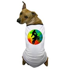 Motocross in a Solar Meltdown Dog T-Shirt