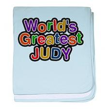 Worlds Greatest Judy baby blanket