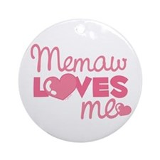 Memaw Love Me (pink) Ornament (Round)