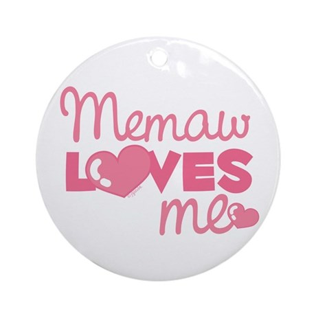 Memaw Love Me (pink) Ornament (Round)