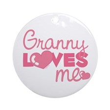 Granny Love Me (pink) Ornament (Round)