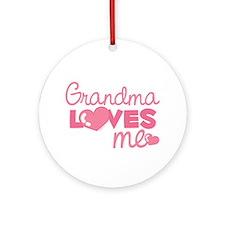 Grandma Love Me (pink) Ornament (Round)