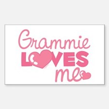 Grammie Love Me (pink) Rectangle Decal