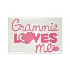 Grammie Love Me (pink) Rectangle Magnet
