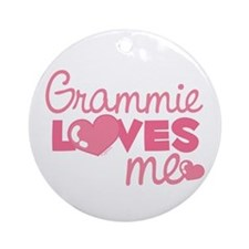 Grammie Love Me (pink) Ornament (Round)