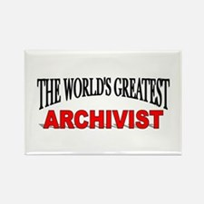 """""""The World's Greatest Archivist"""" Rectangle Magnet"""