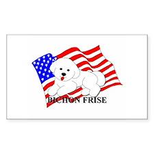 Bichon Frise USA Decal