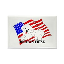 Bichon Frise USA Rectangle Magnet (100 pack)