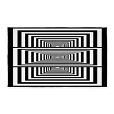 Optical Illusion Rectangles 3'x5' Area Rug