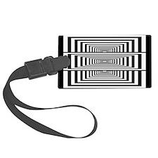 Optical Illusion Rectangles Luggage Tag