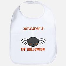 Personalized 1st Halloween Spider Bib