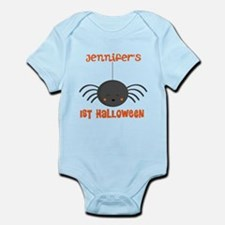 Personalized 1st Halloween Spider Body Suit