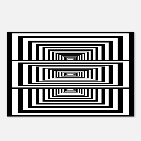 Optical Illusion Rectangles Postcards (Package of