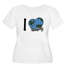 I Love Geography Plus Size T-Shirt