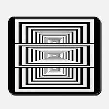 Optical Illusion Rectangles Mousepad
