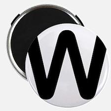 Letter W Magnet