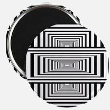 Optical Illusion Rectangles Magnet