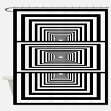 Optical Illusion Rectangles Shower Curtain