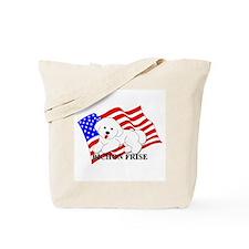 Bichon Frise USA Tote Bag