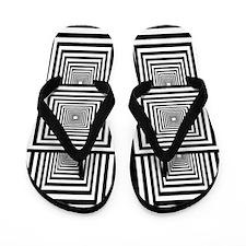 Optical Illusion Rectangles Flip Flops
