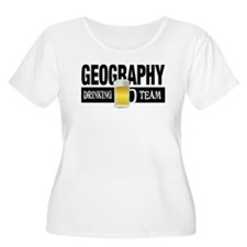 Geography Drinking Team Plus Size T-Shirt