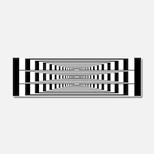 Optical Illusion Rectangles Car Magnet 10 x 3