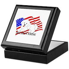 Bichon Frise USA Keepsake Box